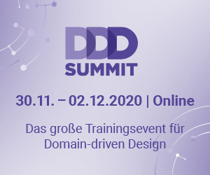 DDD Summit 2020 - Das große Trainingsevent für Domain-driven Design vom 30.11 - 02.12.2020 online